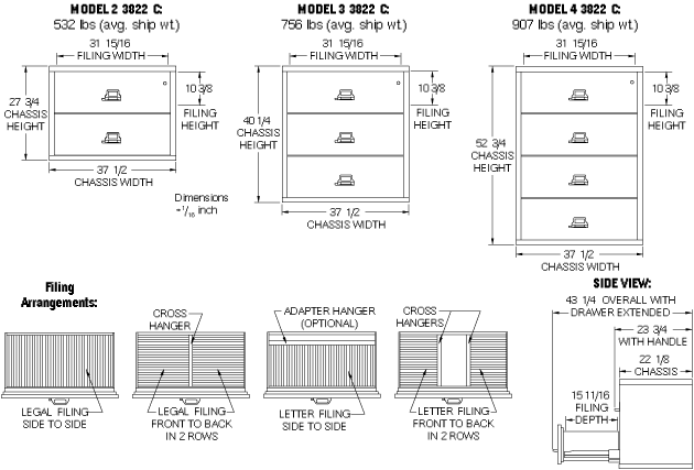 Fireking 4 3822 C 38 Quot Wide Four Drawer Lateral Fire File
