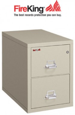 Elegant FireKing 2 2131 C, 2 Drawer Legal Width Fireproof File Cabinet
