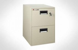 2B2100 Cost Saver! Fire File Cabinet, 2 Drawer Letter Width