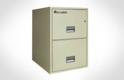 """2G2500 SentrySafe Two Drawer Legal, 25"""" Deep – Fire Resistant"""