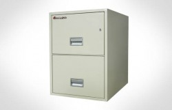 """2G2510 SentrySafe Two Drawer Legal, 25"""" Deep – Fire and Impact Resistant"""