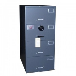 7110-00-082-6112 | Hamilton Products Group Class 5, 4 Drawer SIngle Lock File Cabinet, Gray