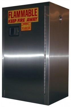 A105-SS Stainless Steel Flammable Storage Cabinet - 12 Gal. Storage Capacity