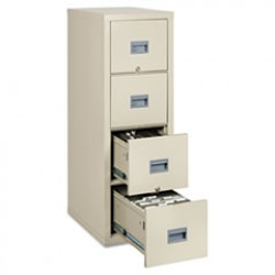 UL 1 Hour Fireproof File Cabinet, 4 Drawer