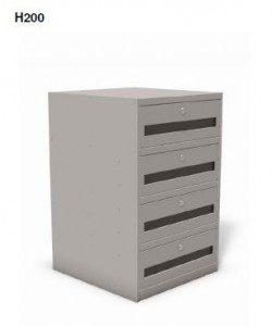 "Model H200 - Sit-down 27 1/2"" High Undercounter Cabinet"