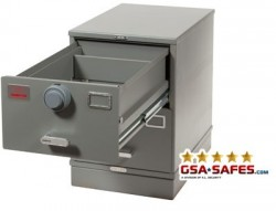7110-00-082-6111ML-WPN | Class 5, Two Drawer Multi Lock File Cabinet, Gray - Weapons Storage