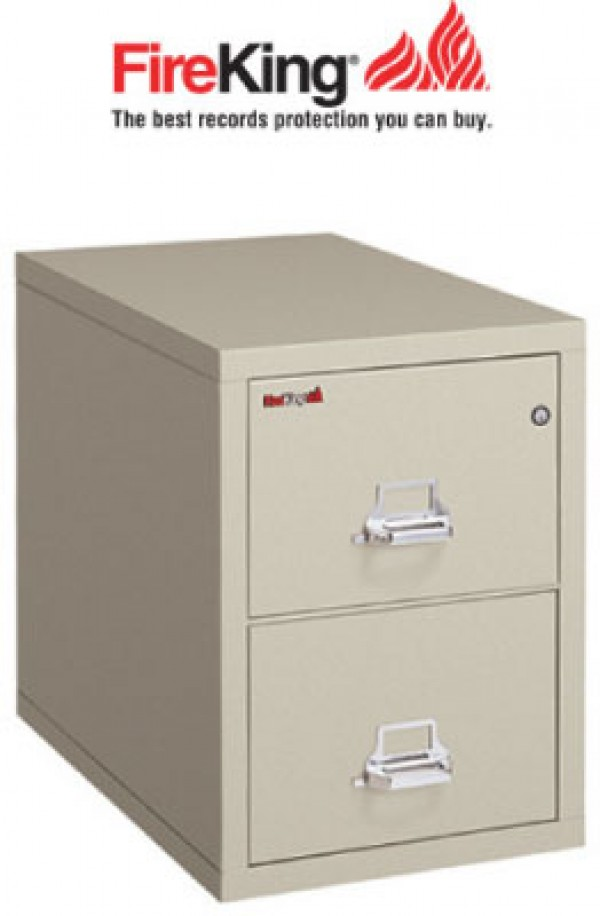 FireKing 2-2131-C, Two Drawer Fire File Cabinet with Medecco Key ...