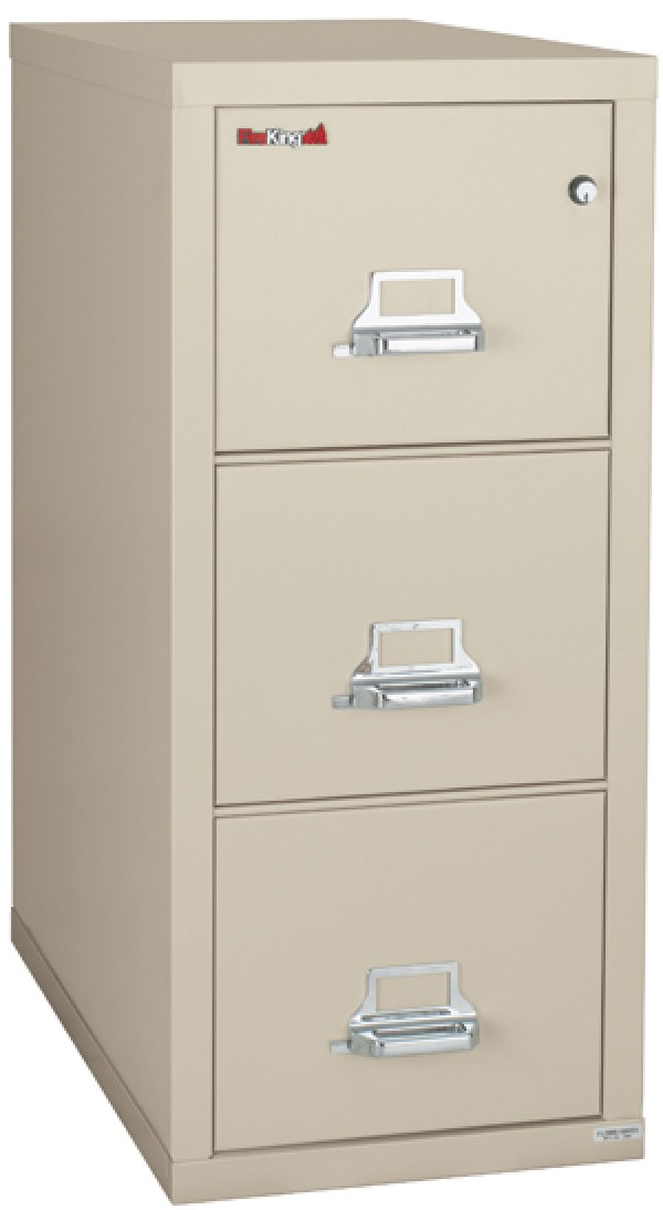 Fireking 3 2131 C Three Drawer Legal Size Fire File Cabinet With Medecco Key Lock Security