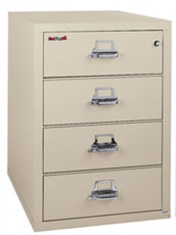 FireKing 4 2536  C Vertical Filing Cabinet For Checks, Index Card Storage  And Carbon Copies