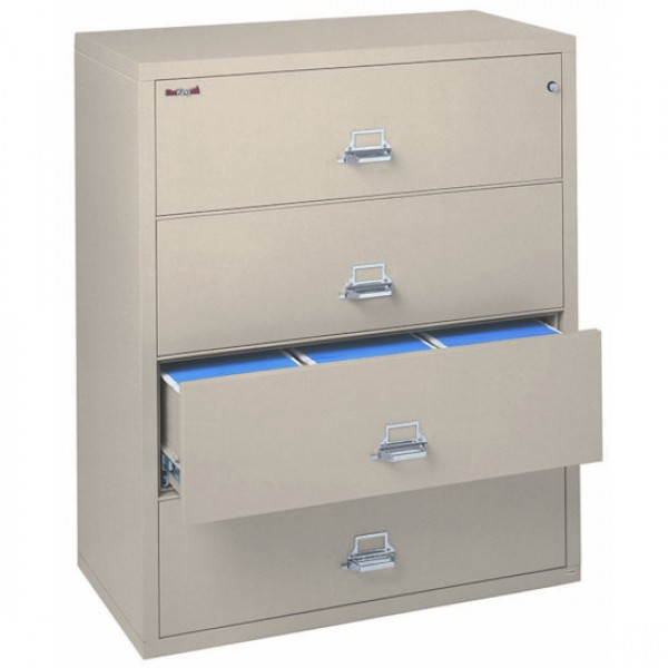 used fireproof file cabinet fireking 4 4422 c 4 drawer lateral filing cabinet ul 1 27789