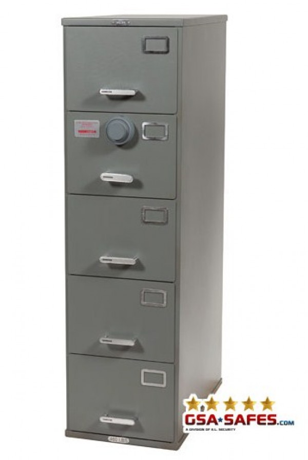 7110 01 015 6099 Class 6 5 Drawer File Cabinet W Kaba